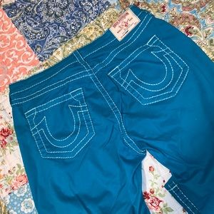 TEAL TRUE RELIGION JEANS